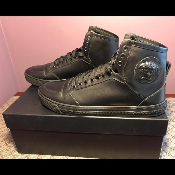 Medusa Leather High Top Sneakers | Poshmark